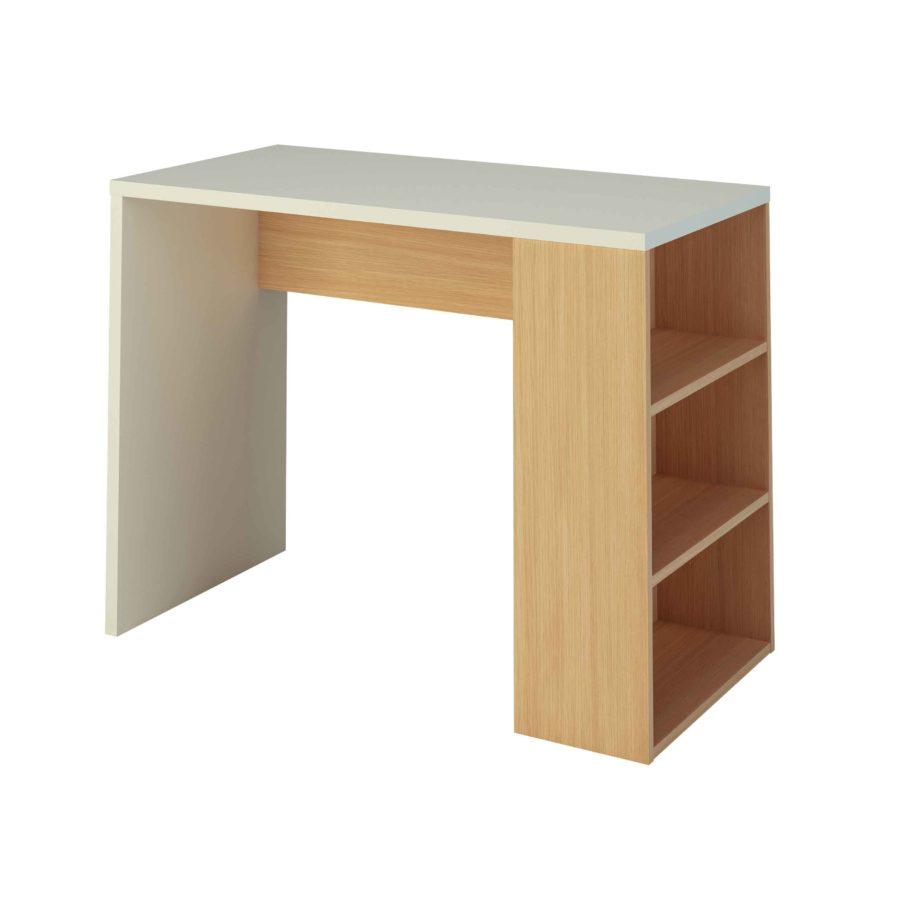 mesa con estantería