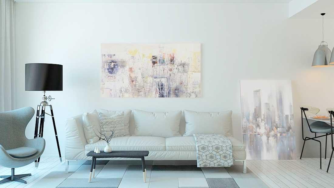 Decorar en tonos blancos el salón