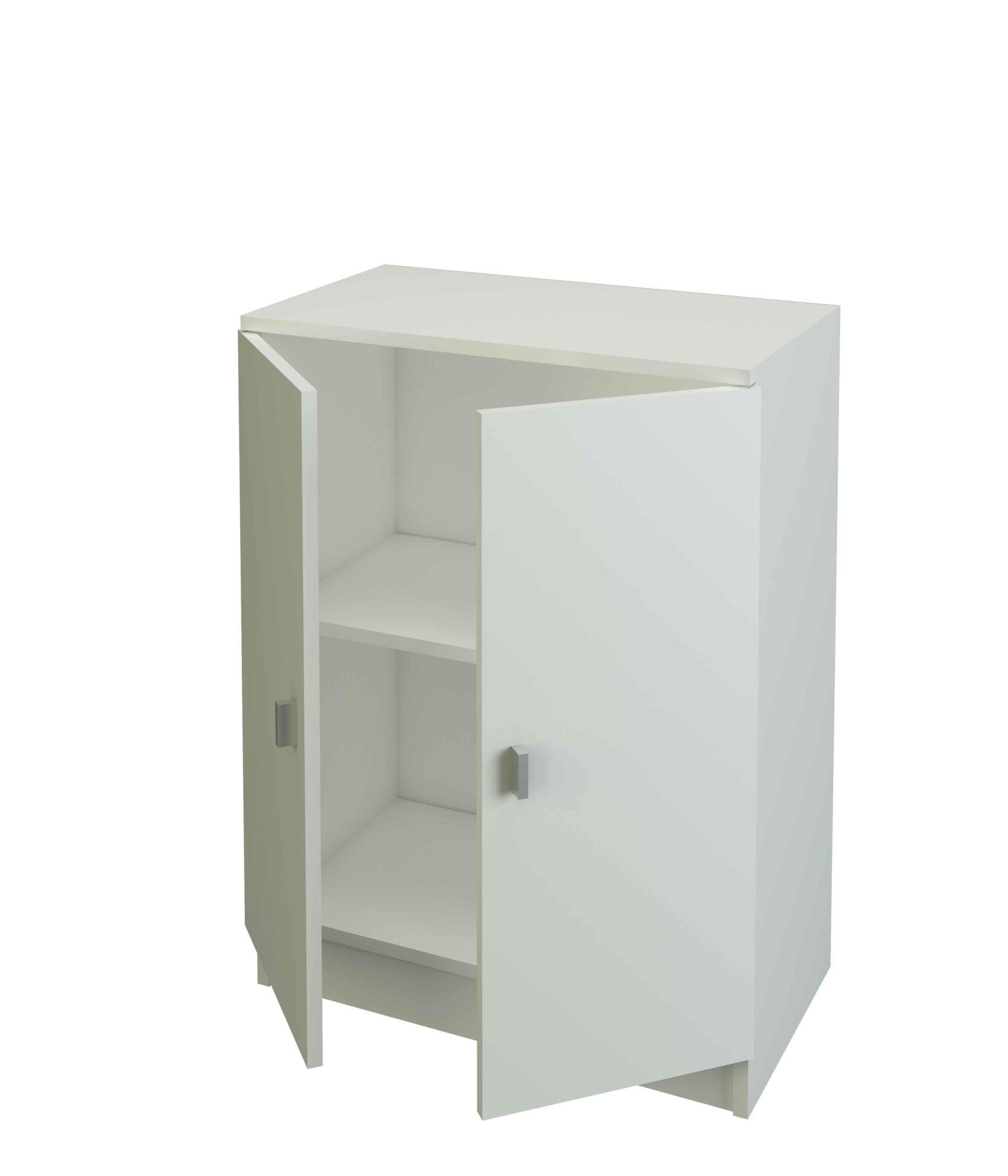 armario bajo blanco