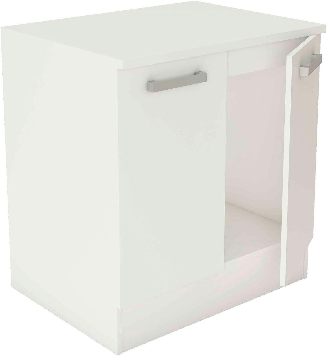 mueble bajo de cocina blanco 2 puertas