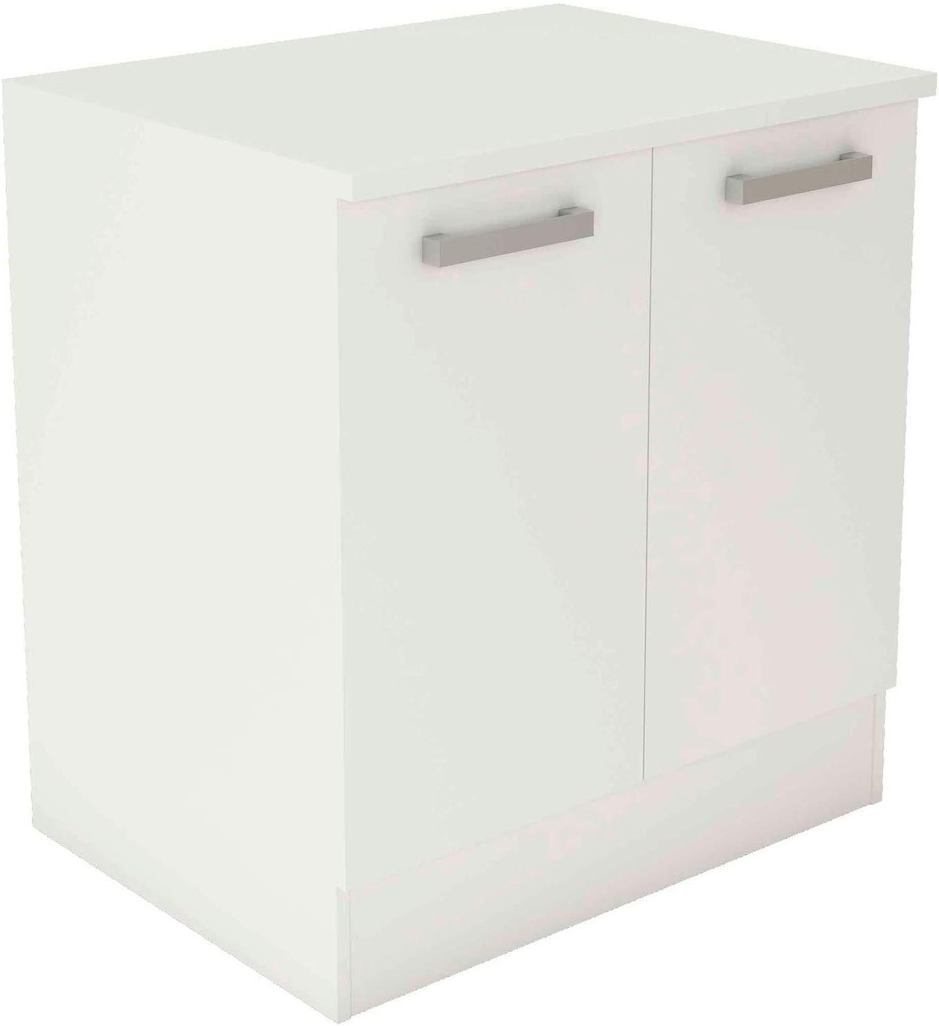 mueble bajo de cocina blanco de 80 2 puertas