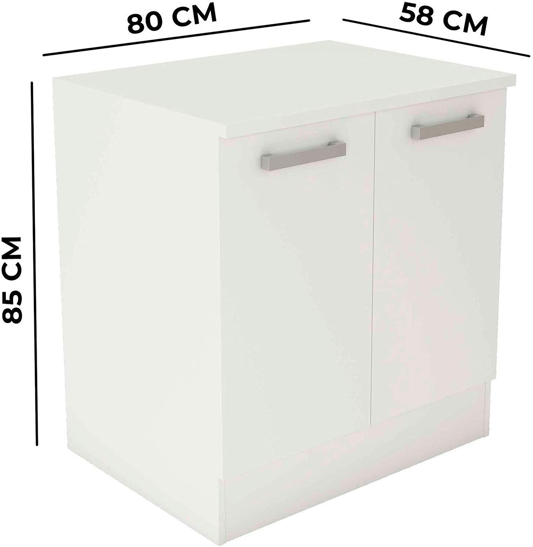 mueble blanco bajo de cocina 2 puertas